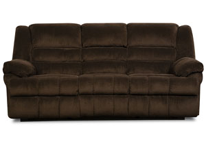 Dynasty Chocolate Double Motion Sofa w/ Table