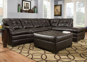 Apollo Espresso Sectional w/ Right Facing Chaise