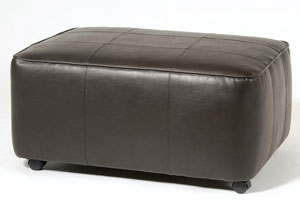 San Marino Chocolate Rectangular Ottoman