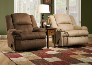 Luna Chocolate Rocker Recliner