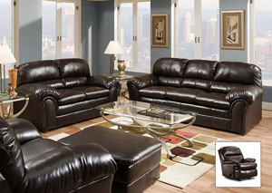 Riverside Bonded Leather Vintage Sofa