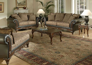 San Marino Chocolate Sofa and Loveseat