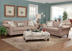 Abington Safari Timeless Patina Sofa and Loveseat