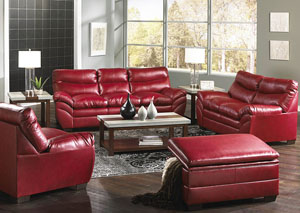 Soho Bonded Leather Cardinal Sofa
