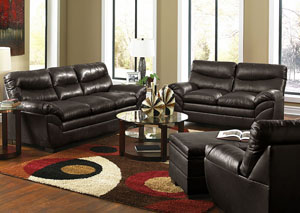 Soho Bonded Leather Espresso Sofa