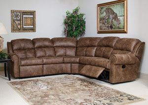 Mustang Mocha Reclining Sectional