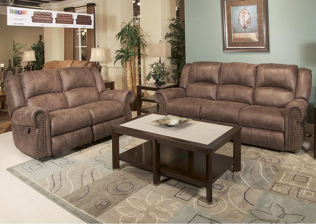 Westin Ash Reclining Sofa & Loveseat,Catnapper