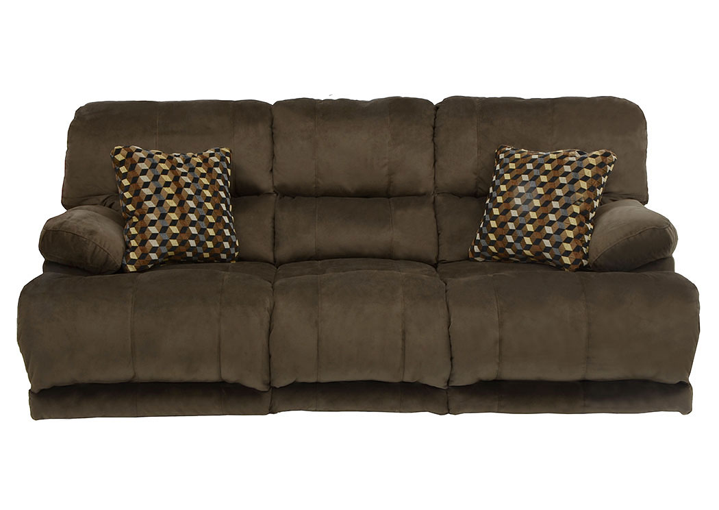 Riley Coffee/Espresso Power Reclining Sofa,Catnapper