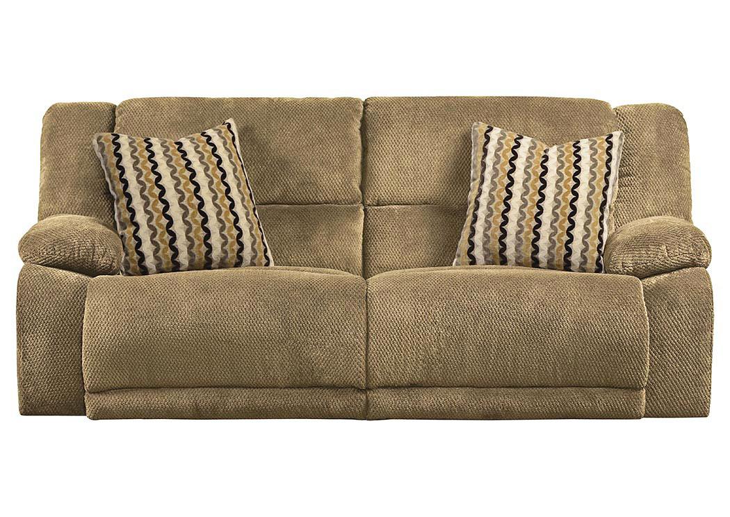 Hammond Coffee/Taupe Reclining Sofa,Catnapper