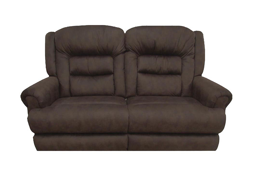 Atlantic Bedding And Furniture Sable Extra Tall Reclining Console Loveseat W Storage Cupholders