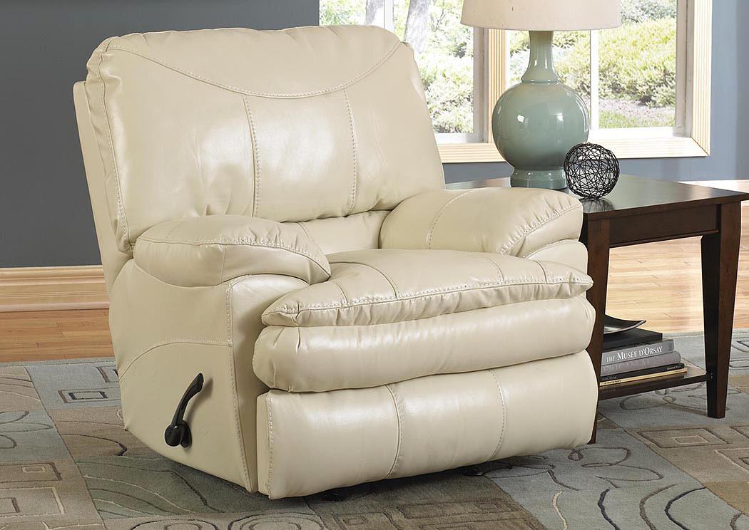 jarons perez ice bonded leather power rocker recliner On perez furniture