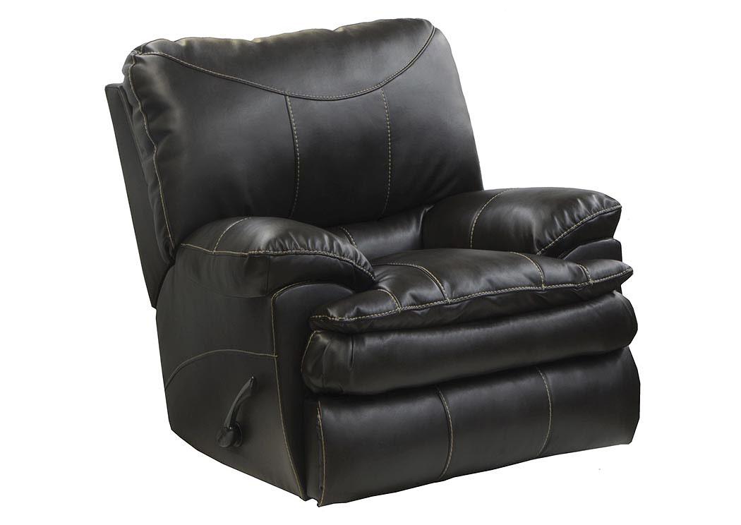 Atlantic Bedding And Furniture Perez Steel Bonded Leather Power Rocker Recliner