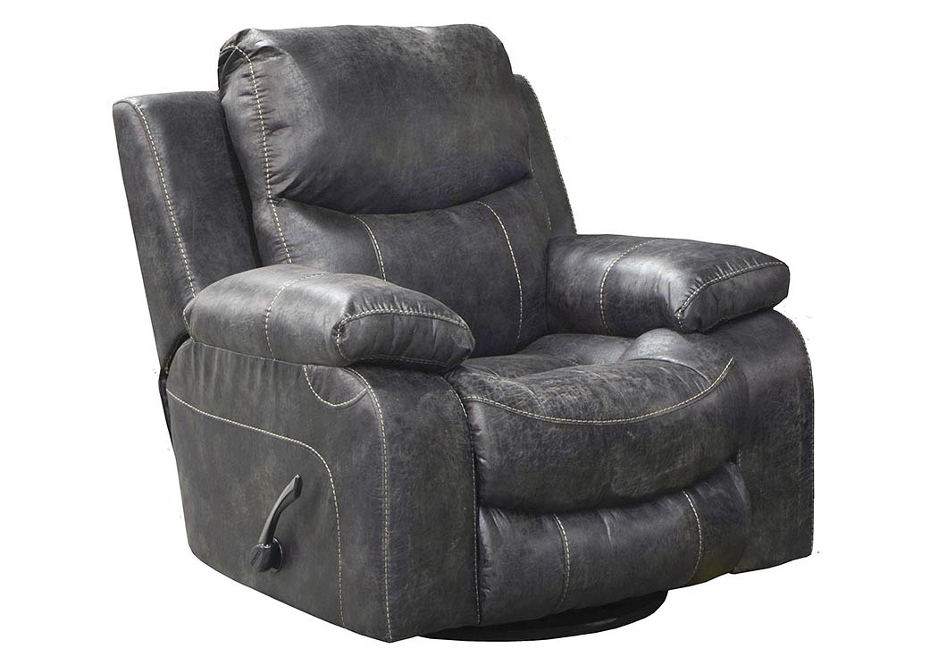 Catalina Steel Bonded Leather Swivel Glider Recliner,ABF Catnapper