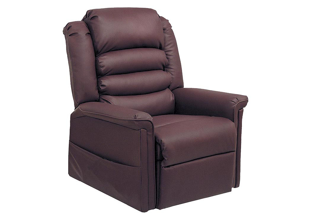 Compass furniture cabernet power lift full lay out chaise for Catnapper cloud nine chaise recliner