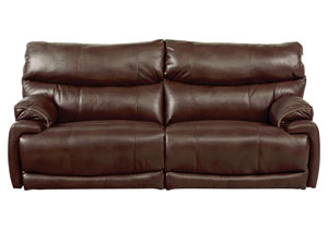 Larkin Coffee Lay Flat Reclining Sofa