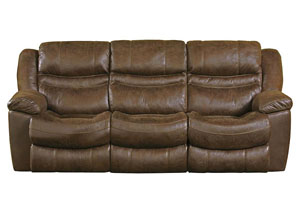Valiant Marble Power Reclining Sofa w/3 Recliner & Drop Down Table