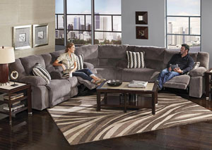 Hammond Dark Cappucino Granite/Graphite Reclining Sectional