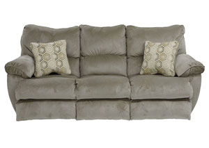 Gavin Taupe/Birch Reclining Sofa