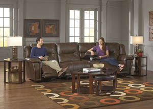 Montgomery Timber Lay Flat Recliner Sectional w/Console Storage Box