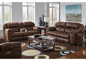 Ferrington Sunset Power Headrest Power Lay Flat Reclining Sofa and Console Loveseat