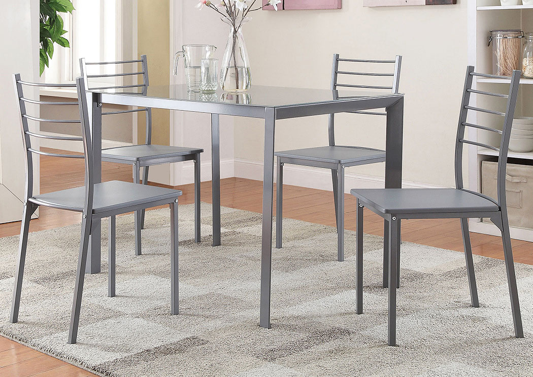 Grey 5 Pc Set,Coaster Furniture