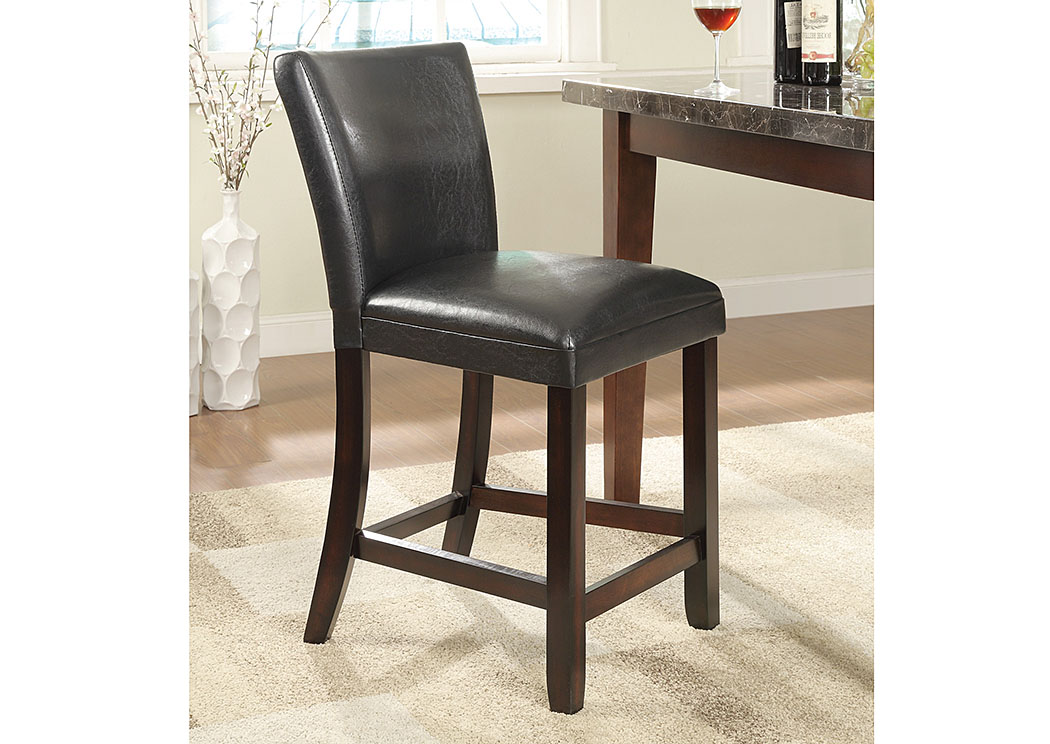 Black & Cappuccino 24'' Counter Height Stool (Set of 2),Coaster Furniture