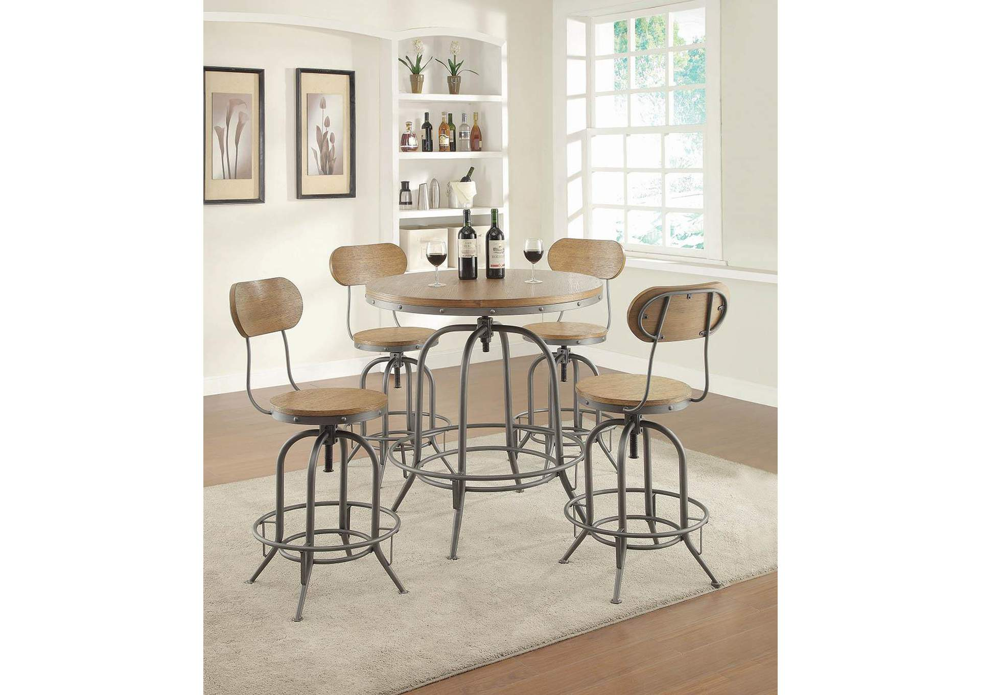 Brown Bar Stool (Set of 2),Coaster Furniture