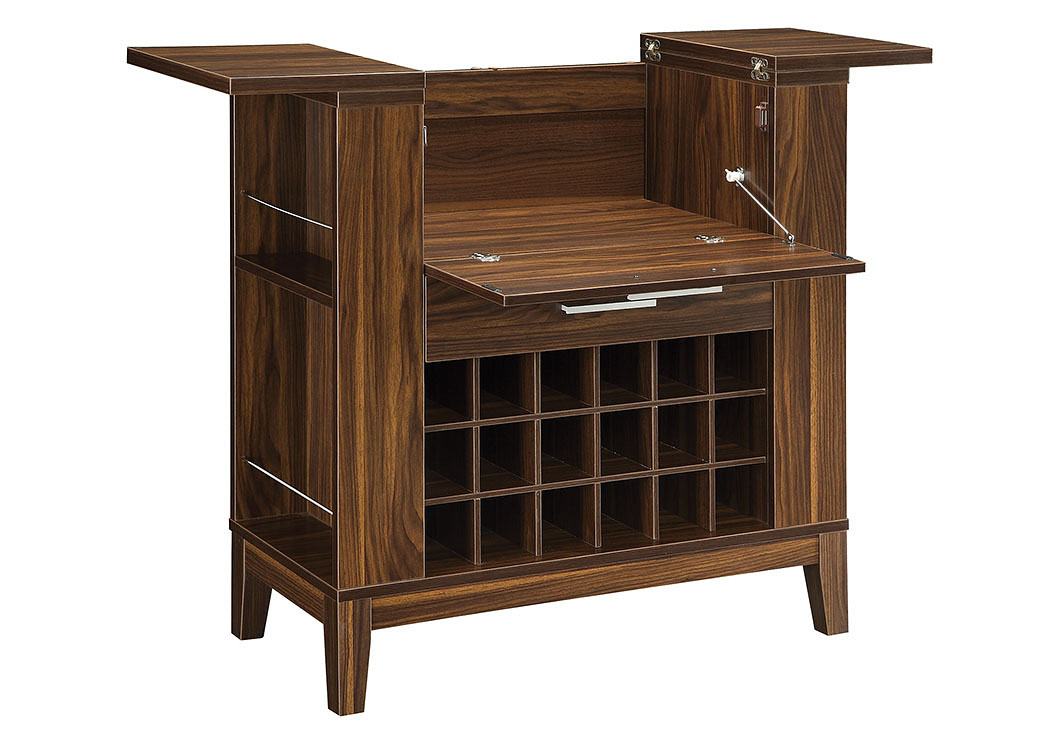 Dark Walnut Bar Unit,ABF Coaster Furniture