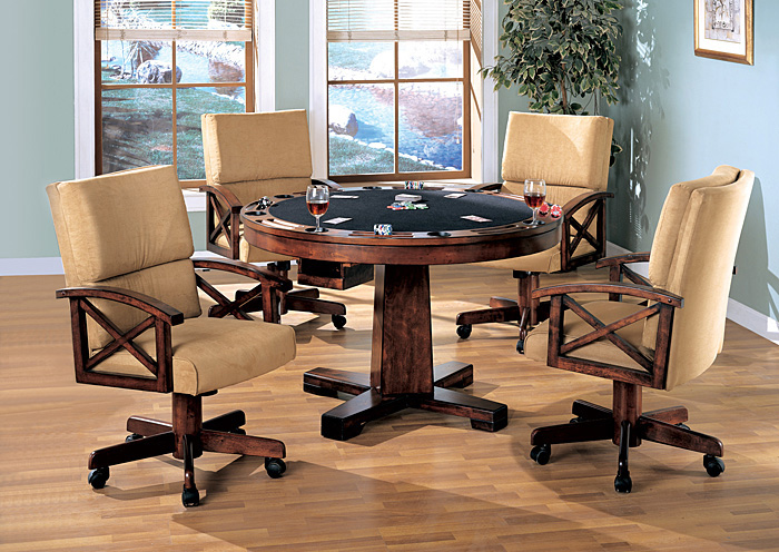 Black U0026 Oak Convertible Dining Table (Bumper Pool U0026 Poker),Coaster Furniture