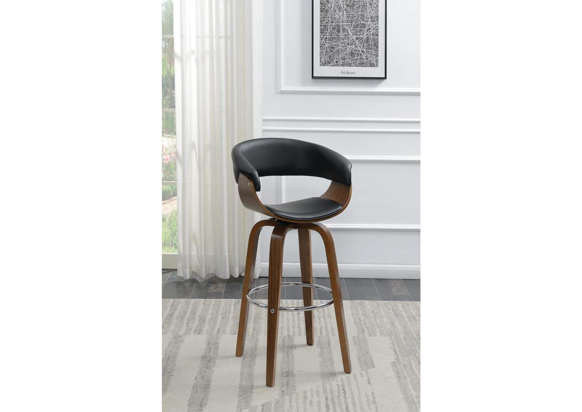 Walnut Bar Stool,ABF Coaster Furniture