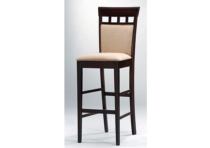 Mocha & Cappuccino Cushion Back Bar Stool (Set of 2),Coaster Furniture