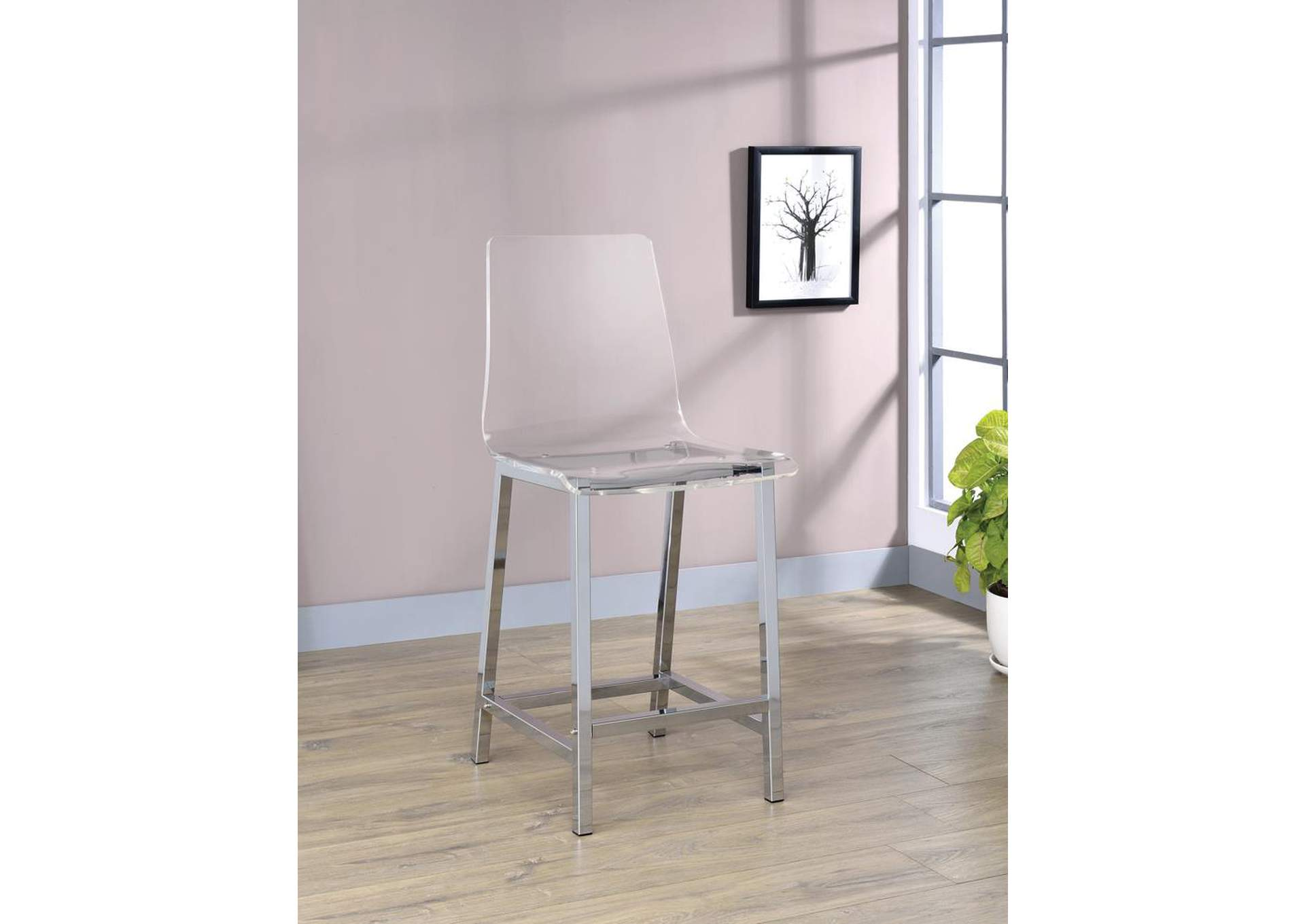 Clear Bar Stool (Set of 2),Coaster Furniture