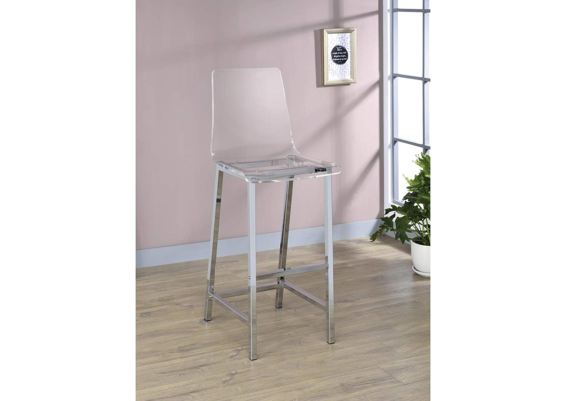 Clear Barstool (Set of 2),Coaster Furniture