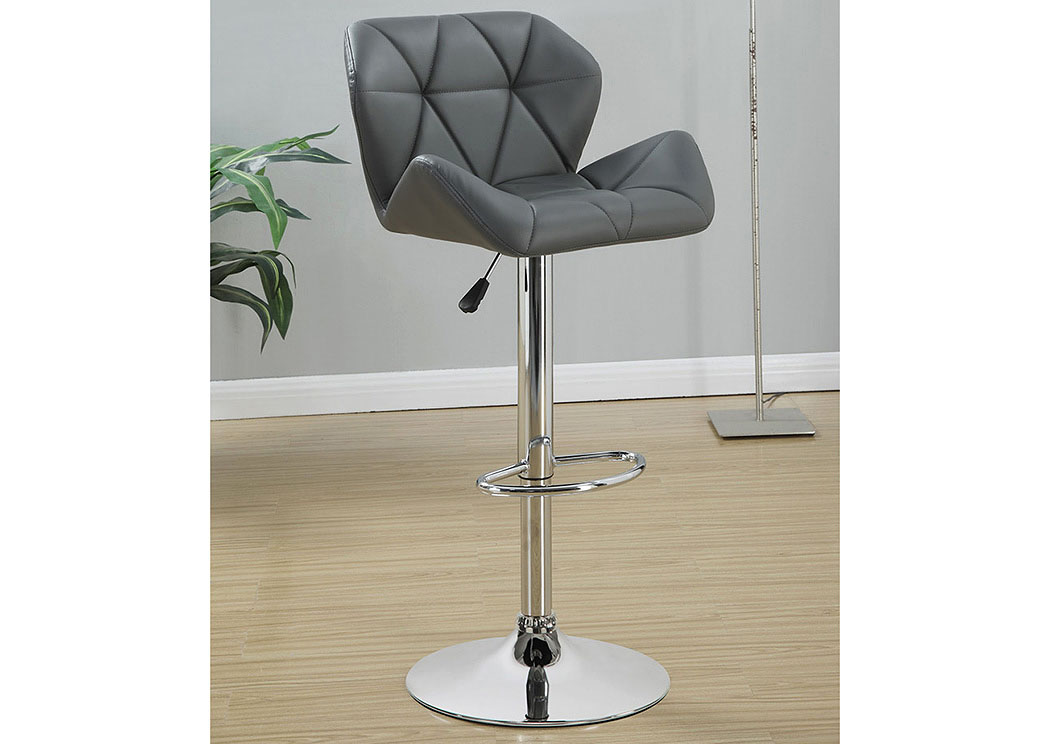 Grey Adjustable Bar Stools (Set Of Two),Coaster Furniture