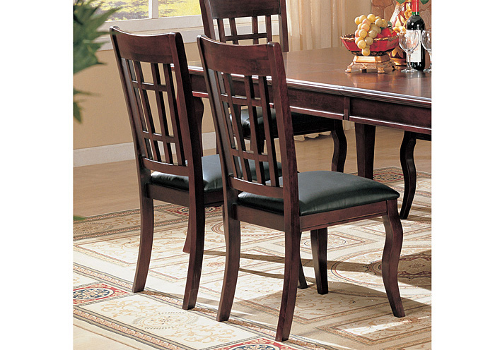 Newhouse Black & Cherry Side Chair (Set of 2),Coaster Furniture