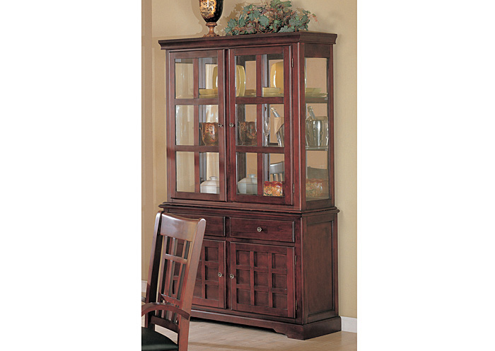 Newhouse Cherry Hutch & Buffet (China),Coaster Furniture