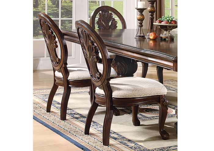 Davis Home Furniture Asheville Nc Tabitha Dark Cherry Side Chair Set Of 2