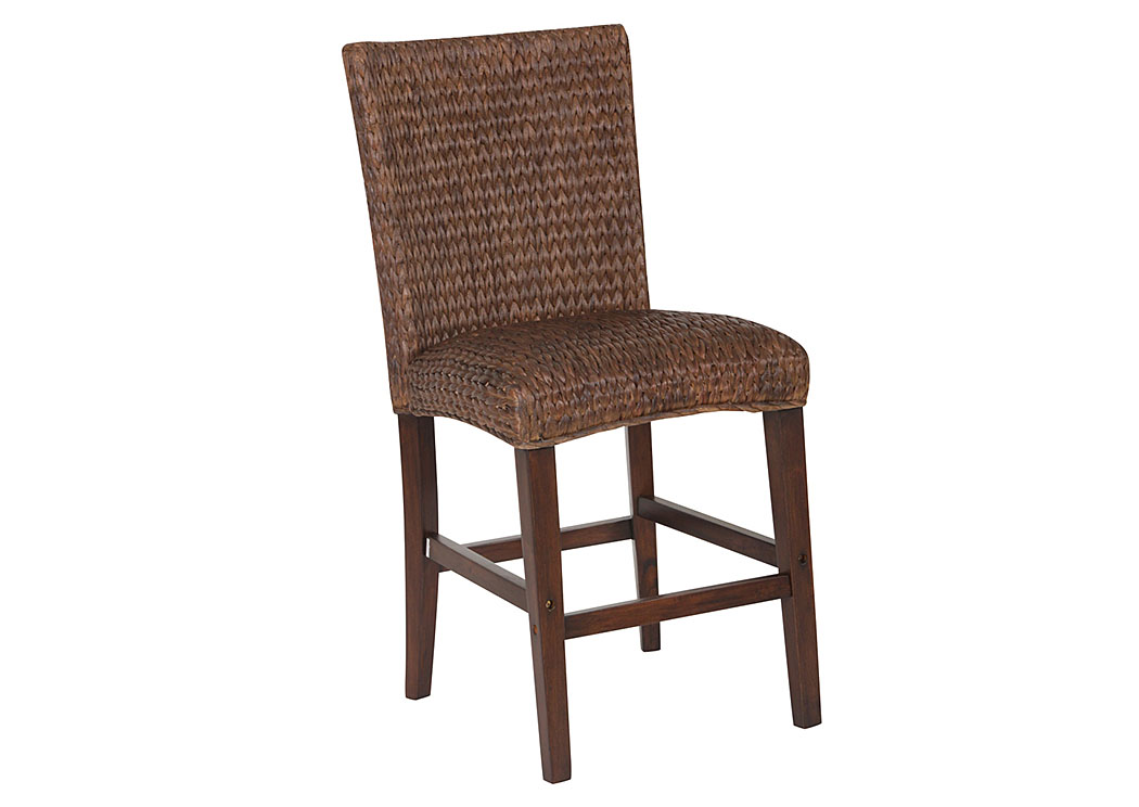 Dark Brown Banana Leaf Counter Height Chair (Set of 2),Coaster Furniture