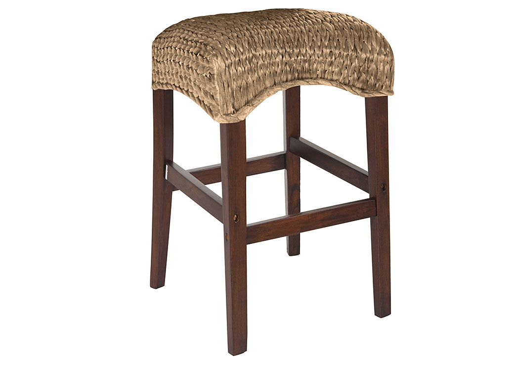 Natural Banana Leaf Counter Height Stool (Set of 2),ABF Coaster Furniture