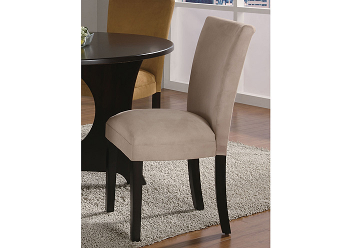 Best Buy Furniture And Mattress Taupe Cappuccino Parson Chair Set Of 2