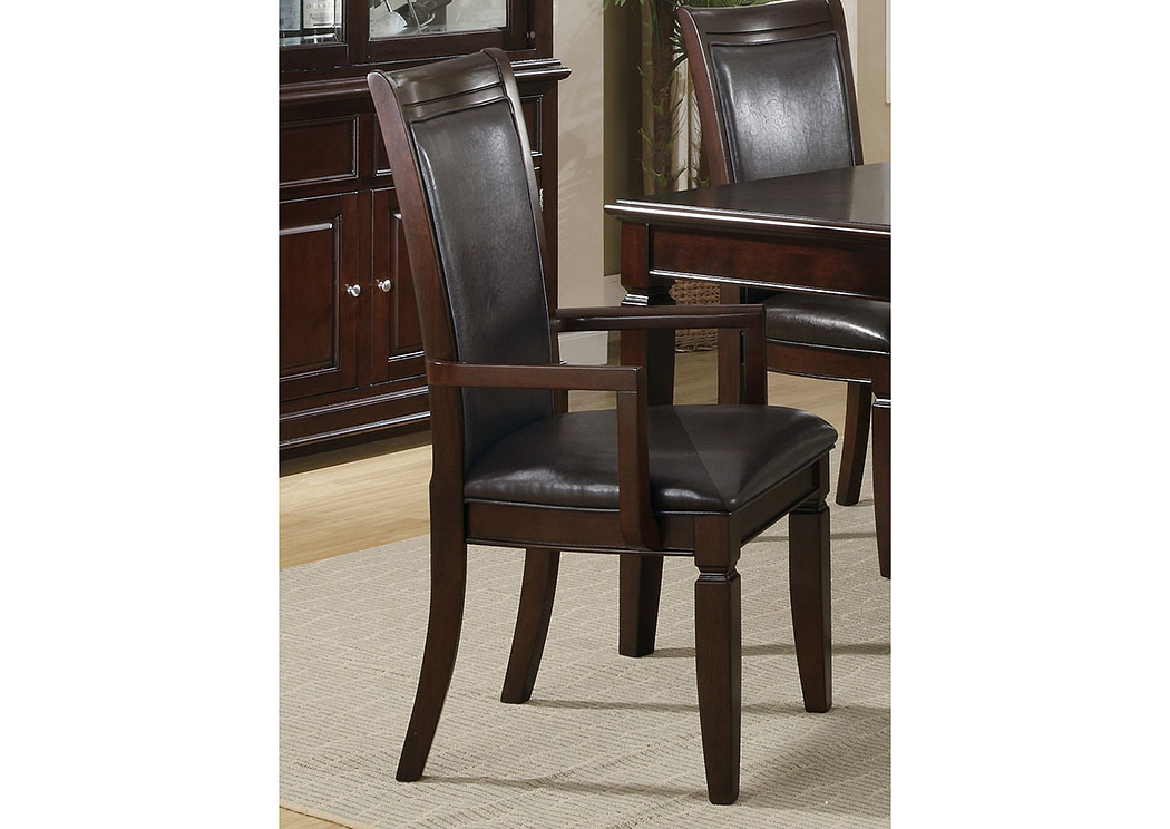furniture distributors - havelock, nc ramona walnut arm chair (set of 2)