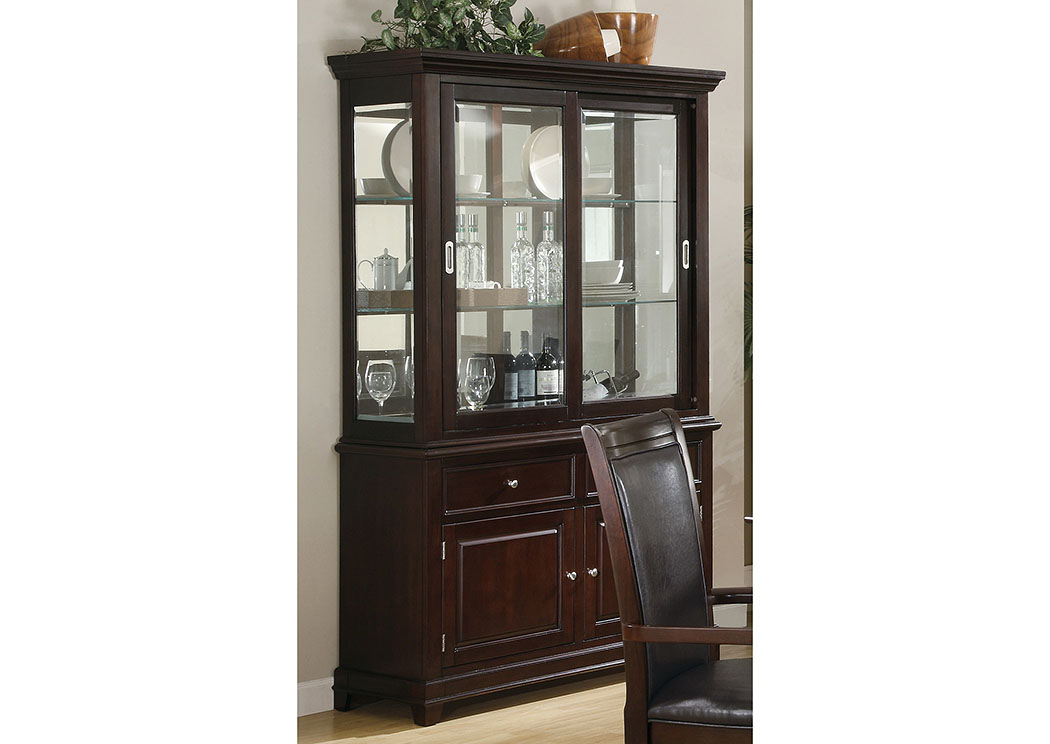 Ramona Walnut Buffet & Hutch,Coaster Furniture