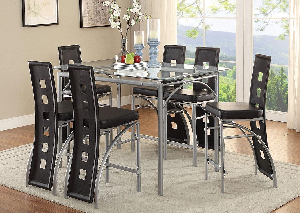 Furniture 5th Avenue Of 5th Avenue Furniture Mi Chrome Counter Height Table W 4