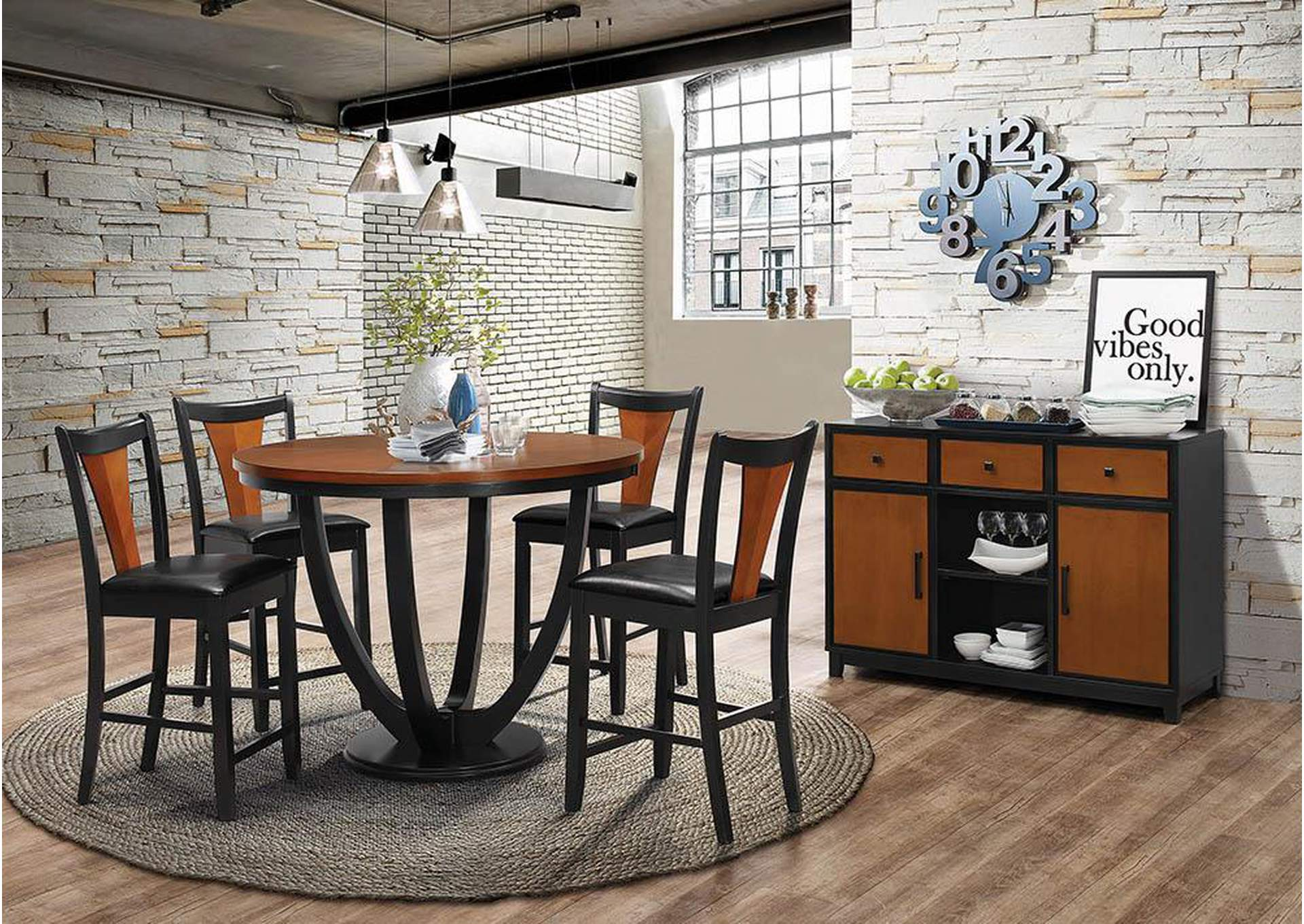 Best Buy Furniture And Mattress Boyer Black Cherry Dining Chair Set Of 2