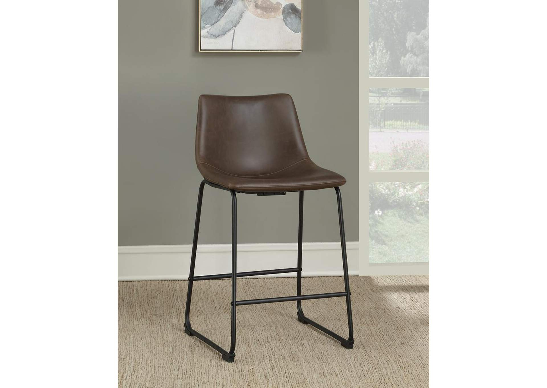 Brown Counter Height Stool (Set of 2),Coaster Furniture