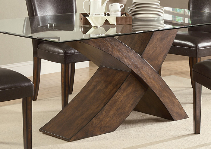 Nessa Brown Dining Table,Coaster Furniture