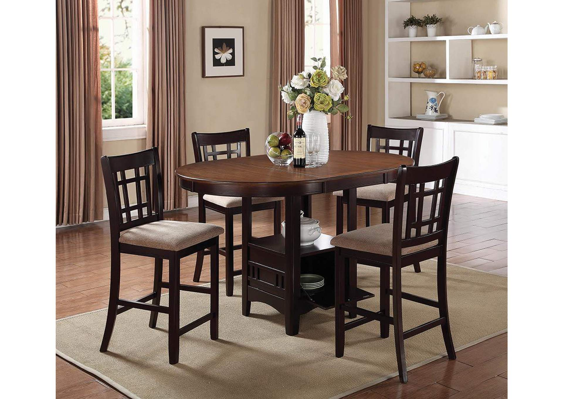 Counter Height Espresso Chairs : Coaster Furniture > Dining Room > Lavon Espresso Counter Height Chair ...