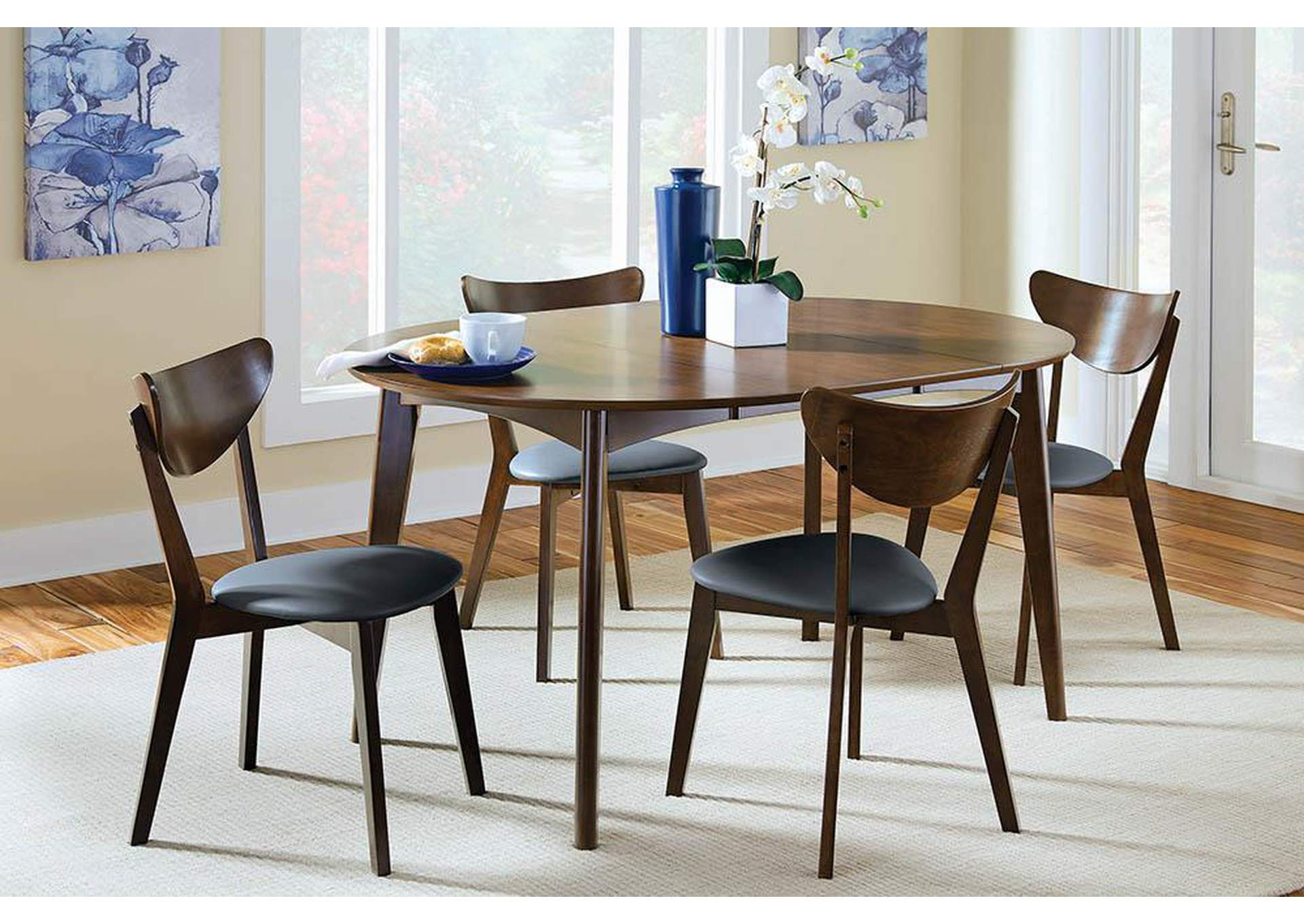 Furniture Gallery Ma Walnut Dining Chair Set Of 2