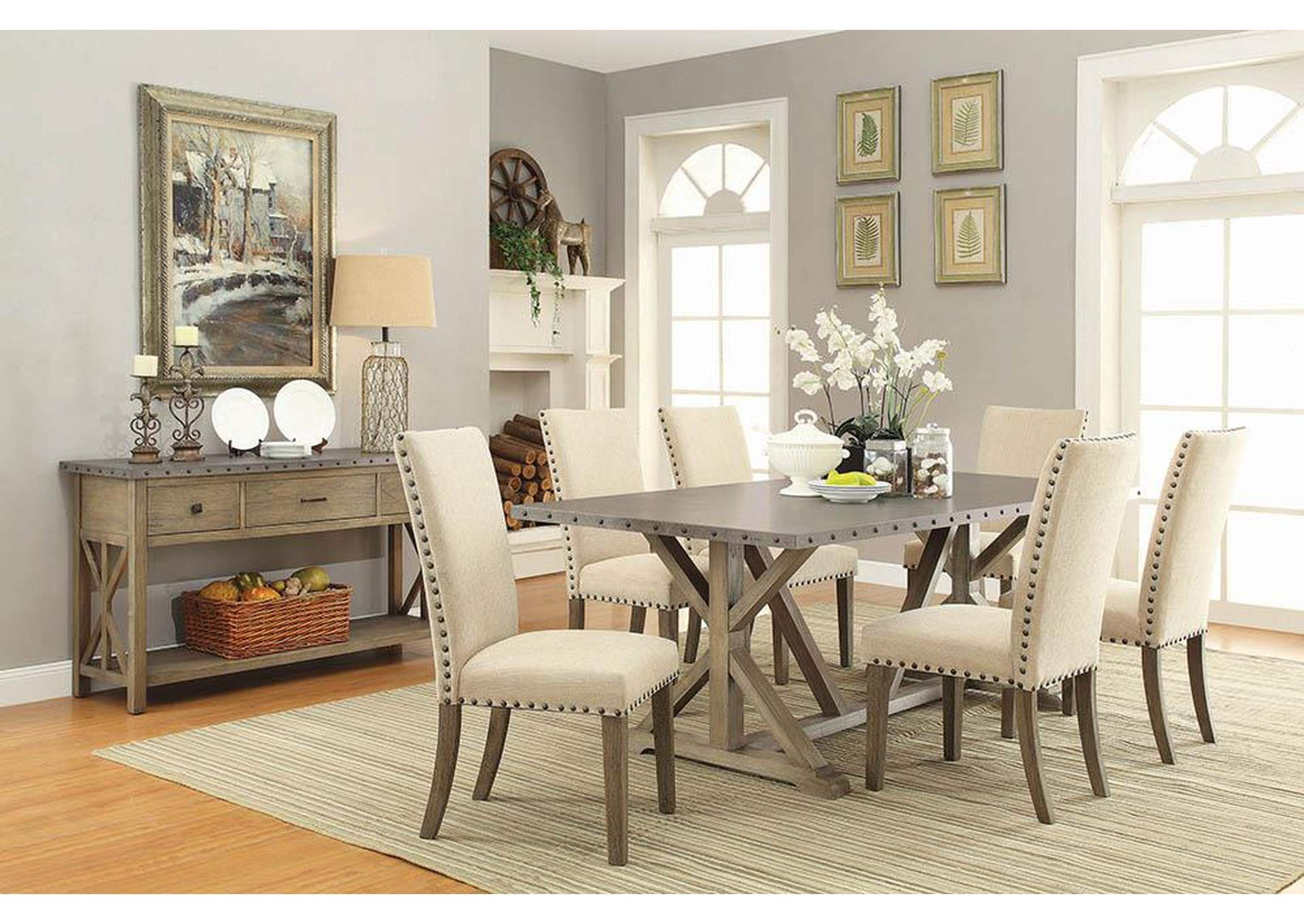 Brothers Fine Furniture Beige Dining Chair Set Of 2