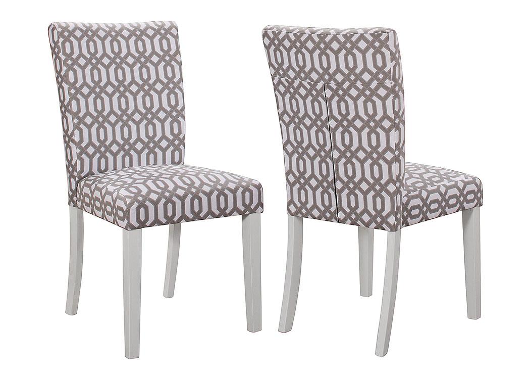 Harlem Furniture White Side Chair Set Of 2